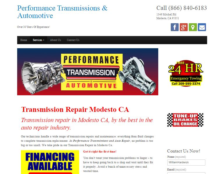 Transmission Repair Website
