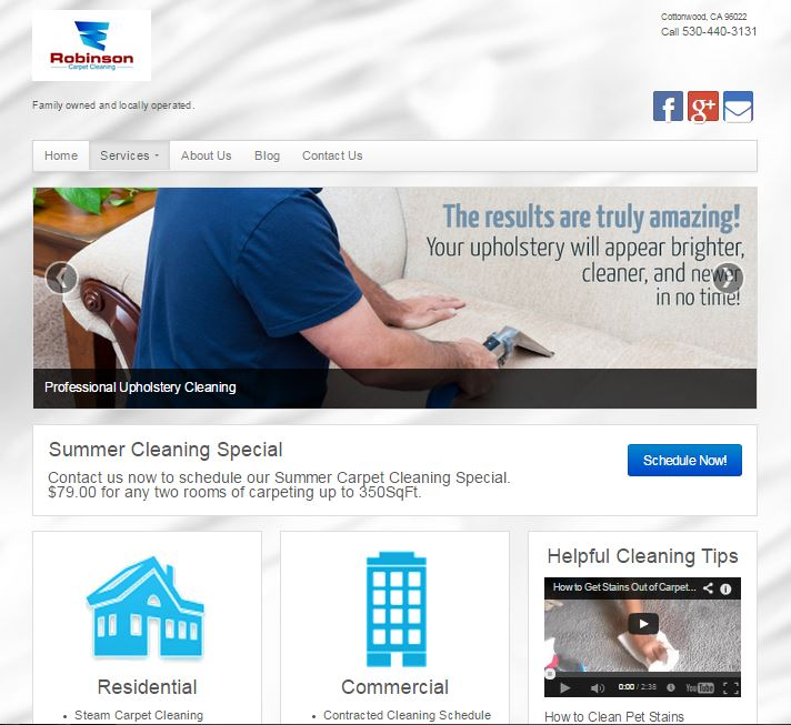 Redding Carpet Cleaning Website