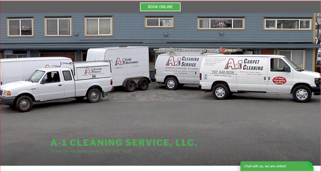 a1 cleaning service website